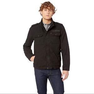 Men's Levi's Black Military Green Plaid Jacket